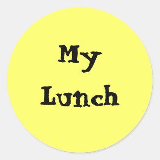 My Lunch Classic Round Sticker