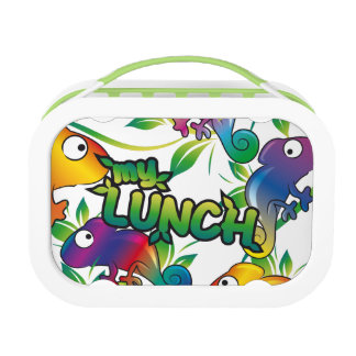 My lunch with Chameleon Lunch Box