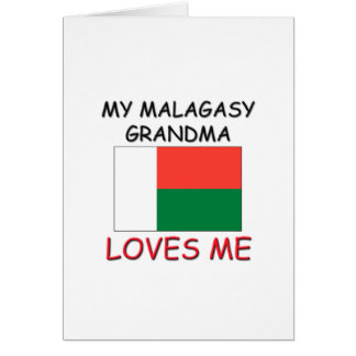 My Malagasy Grandma Loves Me Greeting Cards