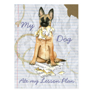 My Malinois Ate My Lesson Plan Postcard