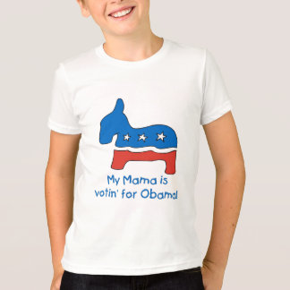 My Mama is Votin' For Obama Kid's Tees