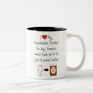 My Manchester Terrier Loves Peanut Butter Two-Tone Mug
