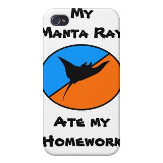 My Manta Ray Ate My Homework! iPhone 4 Case