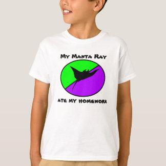 My Manta Ray ate my homework T-Shirt