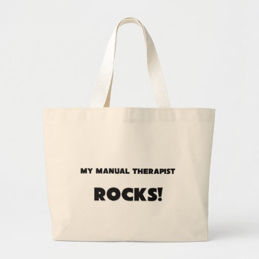 MY Manual Therapist ROCKS! Canvas Bags