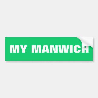 MY MANWICH BUMPER STICKERS