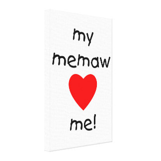 My memaw loves me gallery wrap canvas