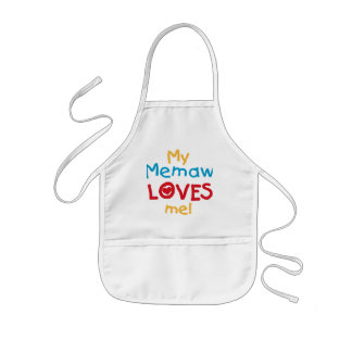 My Memaw Loves Me T-shirts and Gifts Kids Apron