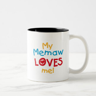 My Memaw Loves Me T-shirts and Gifts Two-Tone Coffee Mug