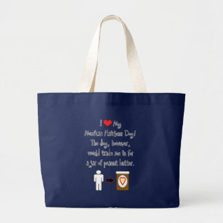 My Mexican Hairless Dog Loves Peanut Butter Jumbo Tote Bag