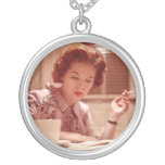 My Mid Century Mum ~ Vintage Smoking Woman Photo Pendants