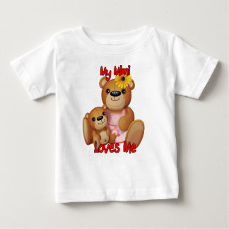 My Mimi Loves Me Teddy Bear Baby T-Shirt