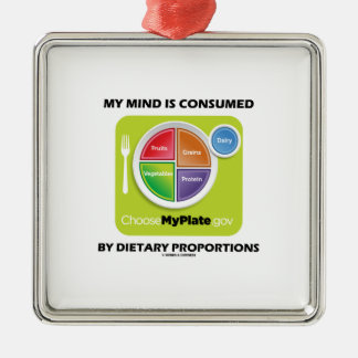 My Mind Is Consumed By Dietary Proportions Christmas Tree Ornament