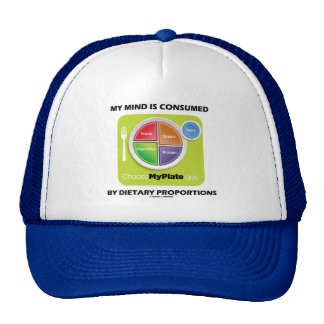 My Mind Is Consumed By Dietary Proportions Trucker Hat