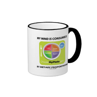 My Mind Is Consumed By Dietary Proportions Ringer Mug
