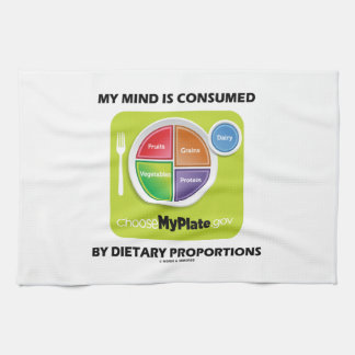My Mind Is Consumed By Dietary Proportions Kitchen Towel