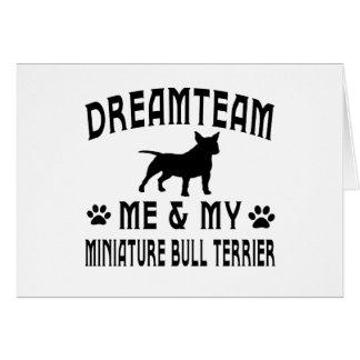 My Miniature Bull Terrier Dog Cards