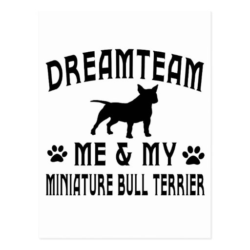 My Miniature Bull Terrier Dog Postcards