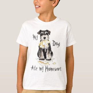 My Miniature Schnauzer Ate My Homework T-Shirt