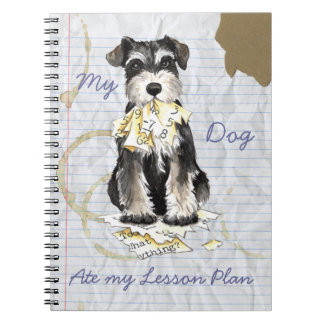My Miniature Schnauzer Ate My Lesson Plan Spiral Note Books
