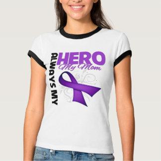 My Mom Always My Hero - Purple Ribbon Tee Shirts