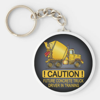 My Mom Drives A Concrete Truck Infant Creeper Basic Round Button Key Ring