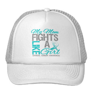 My Mom Fights Like a Girl Cervical Cancer Mesh Hat