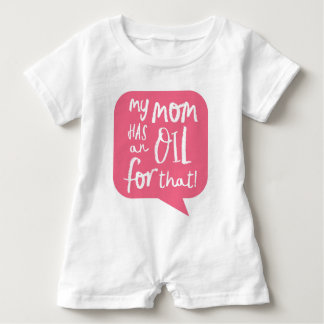 My Mom Has An Essential Oil Pink Baby Bodysuit
