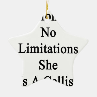 My Mom Has No Limitations She Is A Cellist Ceramic Star Decoration