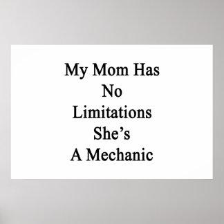 My Mom Has No Limitations She's A Mechanic Poster