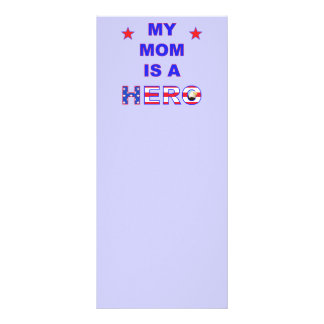 My Mom Is A Hero Rack Card Template