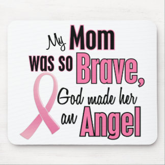 My Mom Is An Angel Breast Cancer Mouse Mat