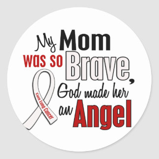 My Mom Is An Angel Lung Cancer Classic Round Sticker