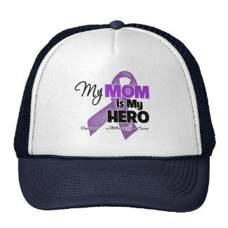 My Mom is My Hero - Purple Ribbon Trucker Hats