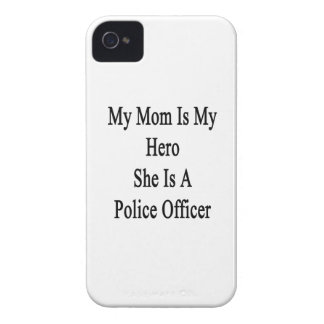 My Mom Is My Hero She Is A Police Officer iPhone 4 Case-Mate Cases
