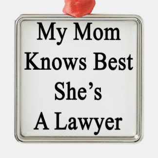 My Mom Knows Best She's A Lawyer Christmas Ornament