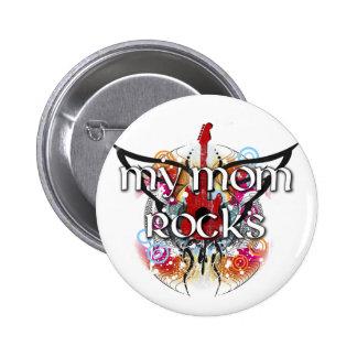 My Mom Rocks 6 Cm Round Badge
