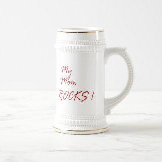 My Mom Rocks ! (red) Beer Steins