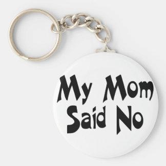 My Mom Said No Key Ring
