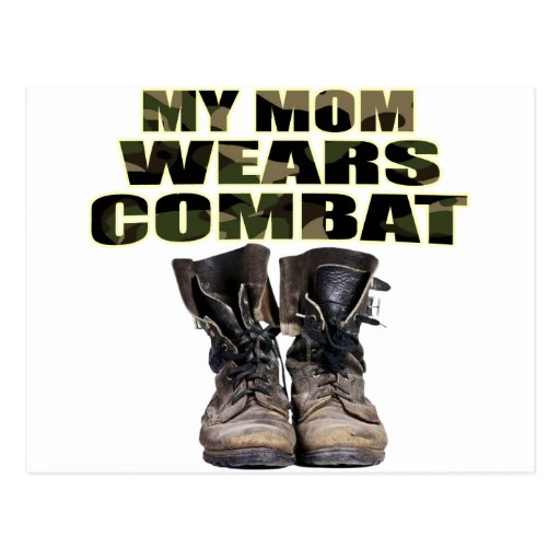 My Mom Wears Combat Boots Postcard