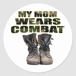 My Mom Wears Combat Boots Sticker
