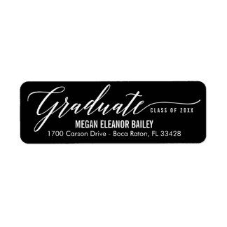 My Moment Editable Color Graduation Address Label