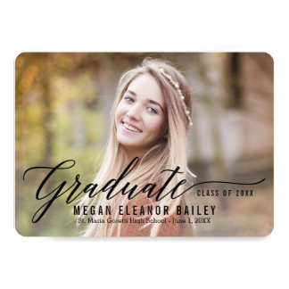 My Moment Graduation Announcement Invitation Black