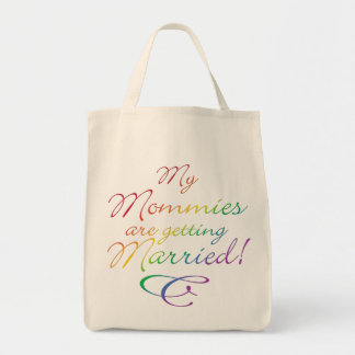 My Mommies Are Getting Married Grocery Tote Bag