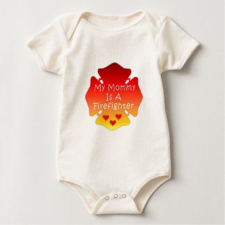 My Mommy Is A Firefighter Baby Bodysuit
