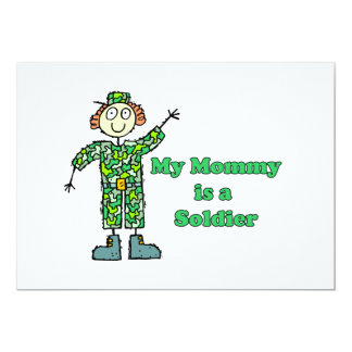 My Mommy is a Soldier 13 Cm X 18 Cm Invitation Card