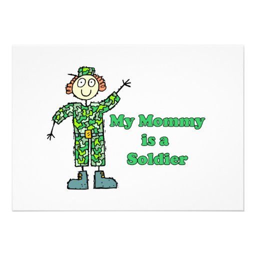 My Mommy is a Soldier Personalized Invitation