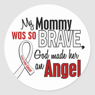 My Mommy Is An Angel Lung Cancer Round Sticker