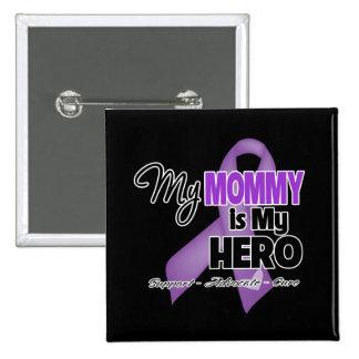 My Mommy is My Hero - Purple Ribbon 15 Cm Square Badge