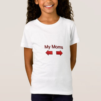 """""""My Moms"""" Girls Fitted Shirt"""